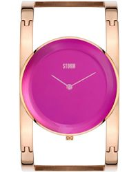 Storm - Ladies Purple Amiah Metal Strap Watch Amiah Rg/purple - Lyst
