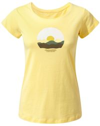 Craghoppers - Yellow Violet Short Sleeved T-shirt - Lyst