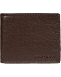 Conkca London - Dark Brown 'ike' Leather Rfid Wallet - Lyst