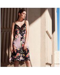Preen By Thornton Bregazzi - Lilac Floral Print V-neck Slip Dress - Lyst