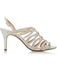 Roland Cartier - Silver 'melisa' Mid Stiletto Heel Ankle Strap Sandals - Lyst