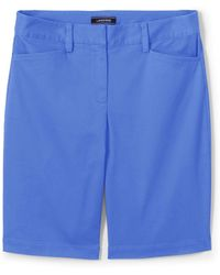 4a74247ae Lands' End Blue Womens 10 Inch Chino Bermuda Shorts in Blue - Lyst