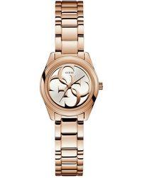 Guess - Ladies Rose Gold Analogue Bracelet Watch W1147l3 - Lyst