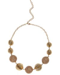 Coast - Rose Gold 'orlena' Necklace - Lyst