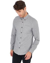 Red Herring - Big And Tall Grey Long Sleeve Slim Fit Shirt - Lyst