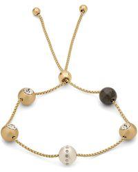 Pilgrim - Gold Plated 'darla' Crystal Bracelet - Lyst