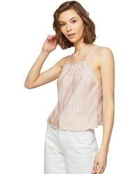 fd41926e7494e Lyst - Miss Selfridge Cream Embellished Hem Camisole Top in Natural