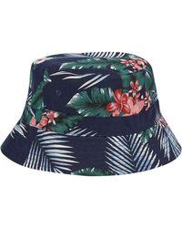 Burton - Navy Floral Bucket Hat - Lyst