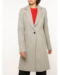 Dorothy Perkins - Tall Grey Coat - Lyst