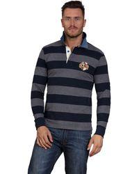 Raging Bull - Navy Crest Rugby Shirt - Lyst