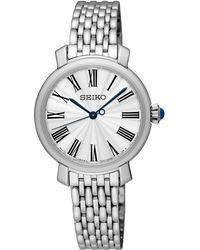 Seiko - Ladies Silver Watch Srz495p1 - Lyst