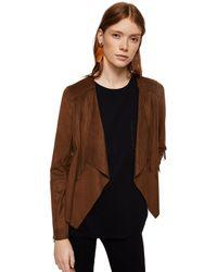 Mango - Brown Fringed 'gipsy' Jacket - Lyst