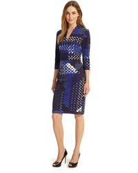 688cf69939 Phase Eight - Multi-coloured Ginny Hexagon Print Dress - Lyst