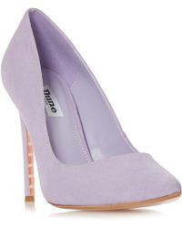 8a7dc64e8291 Dune - Lilac Suede  amalfie  High Stiletto Heel Court Shoes - Lyst