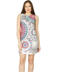 Izabel London - Multicoloured Abstract Print Shift Dress - Lyst