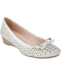 Lotus - Silver 'button' Ballet Court Shoes - Lyst