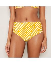 b2d0c1e697 Debenhams. J By Jasper Conran - Yellow Striped High Waisted Bikini Bottoms  - Lyst