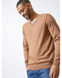 444728ce Fred Perry Camel Roll Neck Jumper in Natural for Men - Lyst