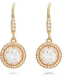 Anne Klein - Gold Eurowire Earrings - Lyst