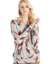 Apricot - Grey Hummingbird Print Tunic Top - Lyst