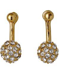 Pilgrim - Amalia Gold Plated Earrings - Lyst