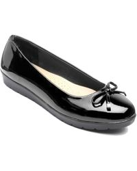 Freestep - Black 'elizabeth' Ballerina Shoes - Lyst