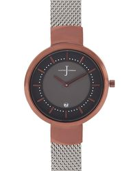 J By Jasper Conran - Womens' Silver Plated Mesh Analogue Watch - Lyst