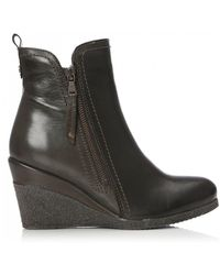 Moda In Pelle - Leather 'ameelo' Mid Wedge Ankle Boots - Lyst