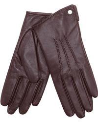 J By Jasper Conran - Dark Red 3 Point Leather Gloves - Lyst