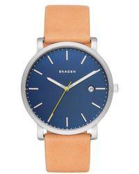 Skagen - Skw6279 Men's Hagen Date Leather Strap Watch - Lyst