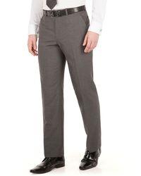 Scott & Taylor - Grey Narrow Stripe Plain Front Regular Fit Suit Trouser - Lyst