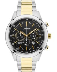 Citizen - Mens Two Tone Bracelet Stainless Steel Chronograph Watch An8154-55h - Lyst
