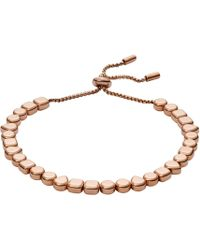 Fossil - Rose Gold Bracelet - Lyst