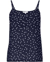 Warehouse - Spot Print Woven Front Camisole - Lyst
