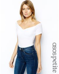 Asos Sweetheart Off The Shoulder Body - Lyst