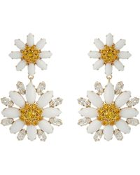 Dolce & Gabbana | Embellished Daisy Earrings | Lyst