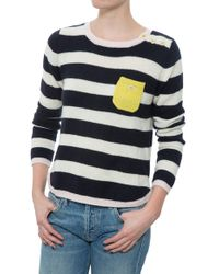 Chinti & Parker Stripe Hem Sweater - Lyst