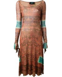 Jean Paul Gaultier Tatoo Sheer Dress - Lyst