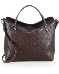 Gucci | Bree Ssima Leather Top Handle Bag | Lyst