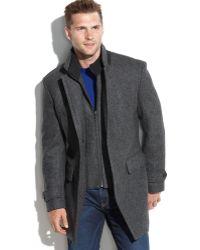 Michael Kors Michael Englewood Woolblend Herringbone Walking Coat - Lyst