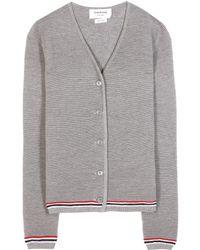 Thom Browne Knitted Wool Cardigan - Lyst