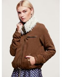 Free People Extreme Sherpa Collar Jacket - Lyst