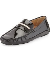 Bally Wabler Patent Leather Driver - Lyst