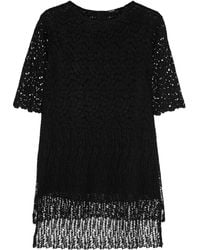 Adam Lippes Oversized Crocheted Lace Top - Lyst