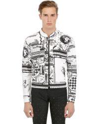 Anthony Vaccarello X Versus Versace Printed Stretch Denim Jacket - Lyst