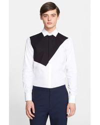 Neil Barrett Men'S 'Modernistic' Trim Fit Colorblock Dress Shirt - Lyst