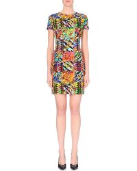 Versus  Abstract-Print Bodycon Dress - Lyst