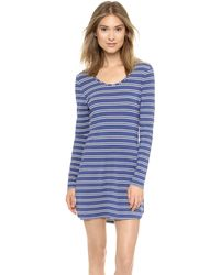 Splendid Essential Long Sleeve Chemise  Twin Stripe - Lyst
