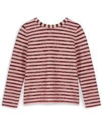 Tory Burch Red Terry Sweatshirt - Lyst