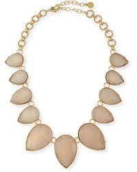 R.j. Graziano - Teardrop Collar Necklace - Lyst
